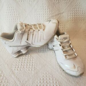Nike 739637-102 Shox Current GS White Leather Lace Running Shoe Youth 4Y