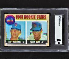 ⚾ 1968 Topps NOLAN RYAN #177 Amazing 3-D HOF Rookie Card - Rare ERROR Find LOOK!