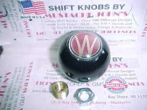 "WILLYS - OVERLAND  Custom 2""   Shift Knob, (Solid Black #1)"