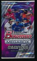2020 BOWMAN CHROME BASEBALL MEGA BOX (1) PACK FACTORY SEALED: 5 EXCLUSIVE CARDS