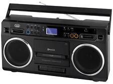 Trevi RR 504 BT Portable Radio Recorder Bluetooth Cassette Radio BLACK