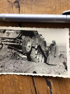 Wehrmacht Kettenfahrzeug Halbkette Original Foto