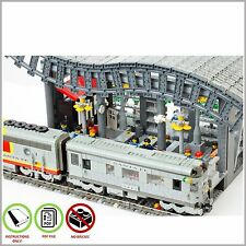 LEGO MOC Town  City Train Station - CUSTOM Model - PDF Instructions Manual