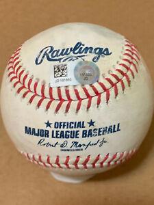 Jeff Mcneil Game Used RBI Sac Fly Baseball - Marlins @ Mets - 9/25/19