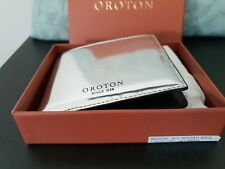 💕💕OROTON 12CC SILVER/BLACK LEATHER Mens WalletCOMES WITH PAPER BOX RRP $195.00