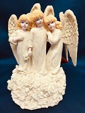 Vintage Angelic Trio Christmas Music Box Angel What Child Is This House of Lloyd