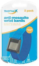 2 x 100% DEET Anti Mosquito Repellent Insect Adjustable Wrist Bands 100+ Hours