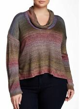 CENY Cowl Neck High/Low Pullover Sweater Ombre  Size 3X -NWT $65 FREE SHIPPING