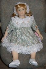 "William Tung Collection Vinyl Cloth Girl Doll Patty 26"" Collectible COA New"