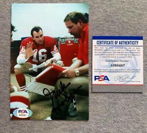 SAN FRANCISCO 49ers- MIKE HOLMGREN SIGNED 4x6 PHOTO w. JOE MONTANA PSA/DNA