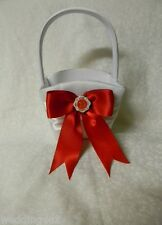 Wedding Ceremony Fireman Firefighter ~Maltese Charm~ Flower Girl Basket White