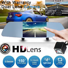 "5"" Full HD1080p REAL HD Car Dash Cam DVR Rearview Mirror Rear Camera Latest"