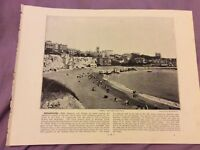 Antique Book Print - Broadstairs OR Arran - UK - c. 1895