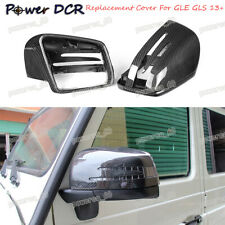 For Mercedes Benz W166 GLE GLS Carbon Fiber Side Mirror Cover Replacement 2013+