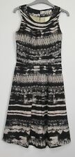 New Uttam  Boutique  Arctic Print Party dress – Uk Size 8 – 16