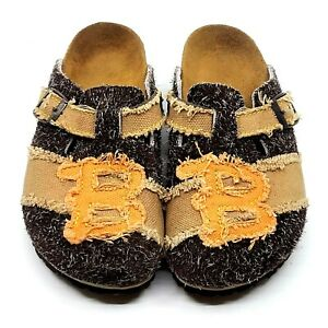 Birkis Womens Boston 7US Khaki Canvas/Wool Sporty Clog Sandal from Birkenstock
