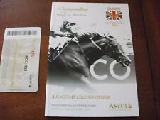 ASCOT BRITISH CHAMPIONS DAY, 2014, SPECIAL BOX EDITION RACE CARD + TICKET.