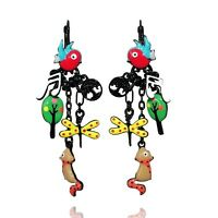Boucles d oreilles BIJOUX LOL LOLILOTA Chaperon rouge loup grand mere vert