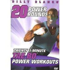 Billy Blanks - TWENTY 1-MINUTE TAE BO POWER ROUNDS 2 WORKOUTS (DVD) 20 taebo NEW