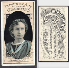 Edwin Booth 1880's Between the Acts Cigarettes N342 Tobacco Thos Hall NY Actor