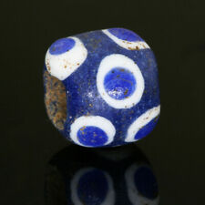 Phoenician beads: genuine ancient bead with stratified eyes & sand/clay core