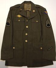 Original Named WWII US Army Air Force Coat Wool OD Uniform Felt Patch & Insignia