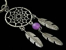 Dreamcatcher Zinc Alloy keyring/Bag Charm With Bead And Feathers