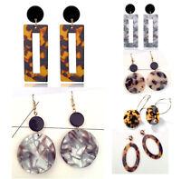 Pendientes de moda mujer geométricos de resina Animal Print varios modelos