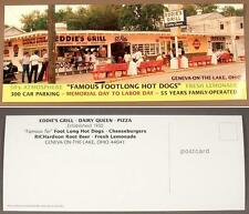 Large Geneva On The Lake - Eddie's Grill Postcard - OH