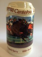 Vtg 1988 Canterbury Cup Horse Races Ceramic Beer Stein Limited Edition