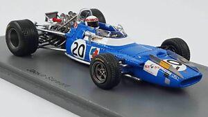 Spark S7192 1/43 1969 Matra MS80 Jackie Stewart Italian GP F1 Model Car