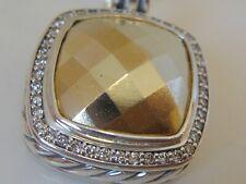 $2450 DAVID YURMAN 18K  ,  SS LARGE ALBION FACETED GOLD DIAMOND ENHANCER