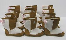 Girls Boots 6 pair wholesale lot LED FLASHING LIGHTS beige brown children's snug