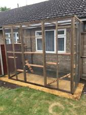 Catio / Cat Lean to 8ft x 6ft x 7.5ft tall with ladders and shelves secure run