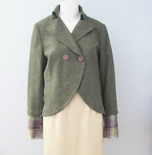 ANTONIO D'ERRICO Size 12 Green Fully Lined Blazer (Made in Italy)