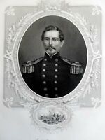 P.G.T. Beaureagard Confederate General 1863 Virtue Civil War military portrait