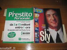 TV SORRISI E CANZONI=2001/29=SYLVESTER STALLONE=JOCELYN=FILIPPA LAGERBACK=