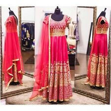 Designer Party Wear Wedding Indian Sari Bollywood Ethnic Long Gown Dress New