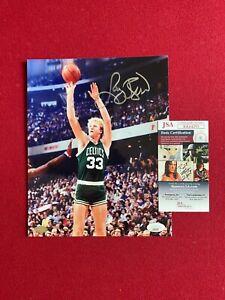 Larry Bird, Autographed (JSA) 8x10 Photo (Celtics) Scarce / Vintage