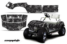 Yamaha Golf Cart Graphic Kit Wrap Parts AMR Racing Decal 1995-2006 CAMOPLATE BLK