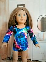 "Sparkly Lighting Bolt Leotard fits American Girl Dolls 18"" Doll Clothes"