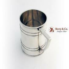 Barrel Form Large Mug Commemorative Inscription 995 Sterling Silver Japan 1930