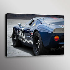 "Classic Ford GT40 Racecar Car Photo Automotive Wall Art Canvas Print 20""x30"""