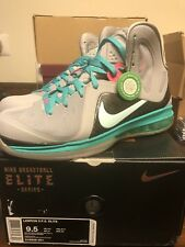 Nike Air Max LeBron 9 IX PS Elite South Beach 516958-001 Size 9.5 New Authentic
