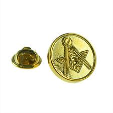 Golden Masonic Lapel Pin Badge XMP001