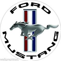 Ford Mustang Tri Bar Circle Wall Graphic Man Cave Garage Decor Decal Cling