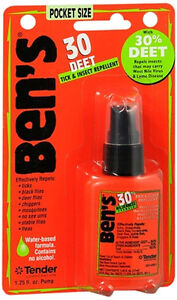 Ben's 100 Deet Max Formula Tick & Insect Repellent Spray - 1.25 oz (3 PACK)