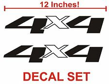 4x4 Truck Bed Decals, Black (Set) for Chevrolet Silverado