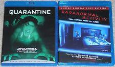 Horror Blu-ray Disc Lot - Quarantine & Paranormal Activity (Used)