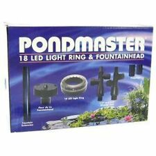 NEW PONDMASTER POND FOUNTAIN 18 LED LIGHT RING WITH FOUNTAIN HEAD 02180
